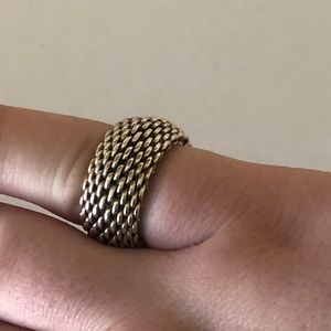 Authentic Tiffany and Co. Mesh Ring 925
